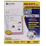 Top Load Crystal Clear Poly Sheet Protectors 100 Heavy Weight