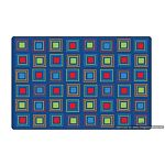 Kids Literacy Squares Primary Carpet  6' x 9' (without Letters)
