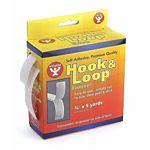 Hygloss Hook and Loop Tape, 3/4-Inch by 5-Yard, White 45105