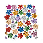 Plastic Flower Jewels - 150 pieces