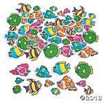 Fabulous Foam Self-Adhesive Shapes 500/pkg - Tropical Fish