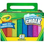 Crayola Washable Sidewalk Chalk, 48 Count of Bright Colors (512048)