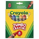 Crayola Jumbo Crayons - Assorted Colors - 8 /Box (520389)