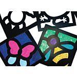 Junior Stained Glass Frames -  24 Frames (Roylco 52074)
