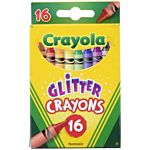 Crayola 16ct Multi-Colored Glitter Crayons (52-3716)