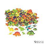 Fabulous Foam Self-Adhesive Shapes - 500/pkg - Dinosaur Shapes