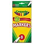 Crayola Fine Line Markers 8 Set Classic Colors 58-7709