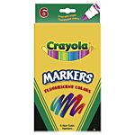 Crayola 6ct Fluorescent Colors Conical Tip  58-7748