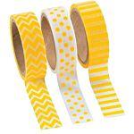 Yellow Washi Tape Set (3 Rolls per Unit), 16'
