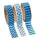 Blue Washi Tape Set (3 Rolls per Unit), 16'