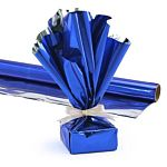 Hygloss Products, Mylar Gift Wrap Roll, 24-Inch by 8.3-Feet, Dark Blue