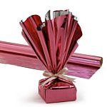 Hygloss Products, Mylar Gift Wrap Roll, 24-Inch by 8.3-Feet, Pink