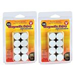 Hygloss Magnetic Coins-Self-Adhesive, 3/4-Inch Coins, 100/pack , 61400