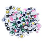 Wiggle Eyes, Painted Peel 'n Stick, Assorted Sizes & Colors 100