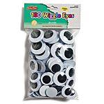 Wiggle Eyes 100 Pack Jumbo Round, 28-40mm - Black/White