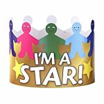 Hygloss  24-Piece I'am A Star Paper  Crowns 65256