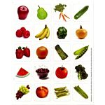 Eureka Fruits & Vegetables Theme Stickers (655033)