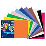 Pacon Tru-Ray Sulphite Smart Stack Construction Paper, Assorted Colors, 12-Inches by 18-Inches, 120-Count, 6587