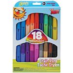 The New Image Group Kelly's Crafts Stain Pen 18-Pack, Bold, Bright Colors