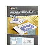 MACO Laser/Ink Jet White Name Badge Labels 400 Per Box (ML-7000) Red Border