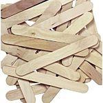 Jumbo Natural Wood Craft Sticks - 6