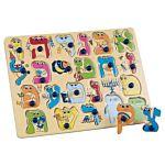 22-Piece Wood Alef-Bet Hebrew Alphabet Puzzle