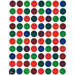 Smiles-Metallic Stickers 1/2
