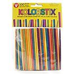 Hygloss 100-Piece Kolorstix Round Colored Craft Sticks, 4-Inch