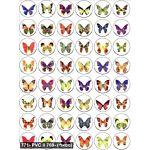 Butterflies With Glitter Stickers 3/4