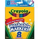Crayola 8 Ct Bold Broad-Line Washable Markers 58-7832