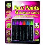 Crafty Dab Face Paint Jumbo Crayons - 6 Brilliant Colors