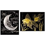 Scratch Art Paper, Gold and Silver Foil, 50-Sheets