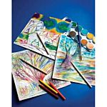 Melissa And Doug Scratch Art Paper Rainbow White (50 Sheets)