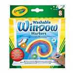 Crayola Washable Window Markers  8 Different Colors Bright Bold Colors 58-8165