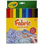 Crayola 10-Pack Fabric Markers 58-8626