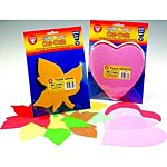 Hygloss Bright Shapes Color Tissue Hearts 6