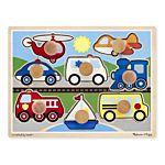 Melissa & Doug Vehicles Jumbo Knob Wooden Puzzle - 8 Pieces, item 8980