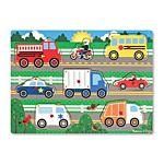 Melissa & Doug Vehicles Peg Wooden Puzzle - 8 Pieces, item 9051