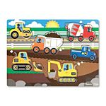 Melissa & Doug Construction Site Peg Wooden Puzzle - 8 Pieces, item 9052