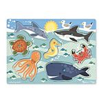 Melissa & Doug Sea Creatures Peg Wooden Puzzle - 7 Pieces, item 9055