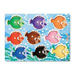 Melissa & Doug Colorful Fish Peg Wooden Puzzle - 9 Pieces, item 9058