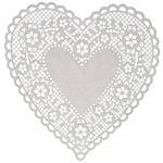"Hygloss Heart Paper Doilies  Decorative, White Lace Doilies, Disposable, 6"" Diameter, 100 Pack"