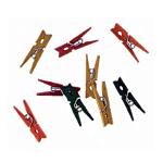 Darice Mini Spring Clothespins - Multicolor - 1 inch - 50 pieces (9151-09)