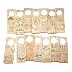 Darice Art Project Screen Printed Wood Door Hanger Set Of 12