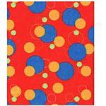 Geometric Red, Fleece, Fabric 30