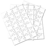 Blank Puzzle, 24 Puzzles Per Package, 5-1/2