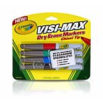 Crayola Dry Erase Markers (4 Count), Chisel Tip Visimax BL - 98-8902