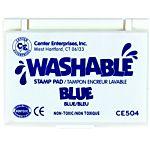Center Enterprise, Washable Stamp Pads, Blue , CE504