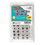 Wiggle Eyes Stickers - Black - 1000/pkg.