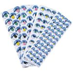 Peel & Stick Wiggle Eye Sheets - 125 Pieces Painted